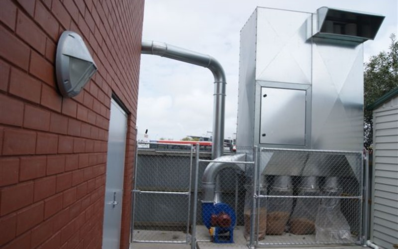 Effective dust filtration installation for Christchurch School
